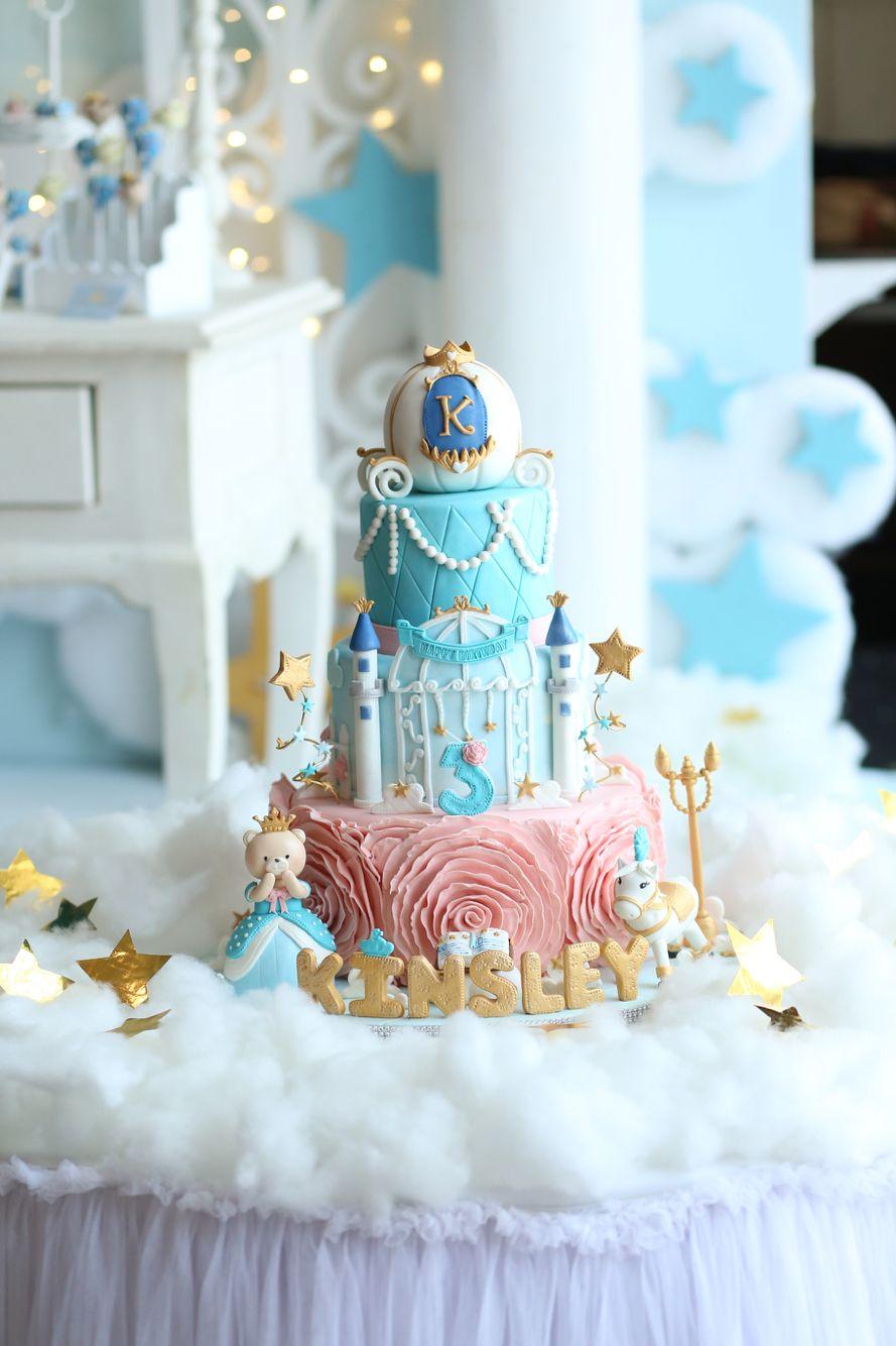 Princess Bear Birthday Cake With Images Princess Birthday Cake