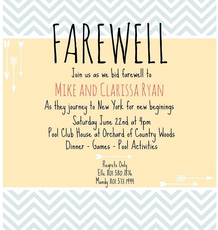 Farewell Party Invitation Card Design