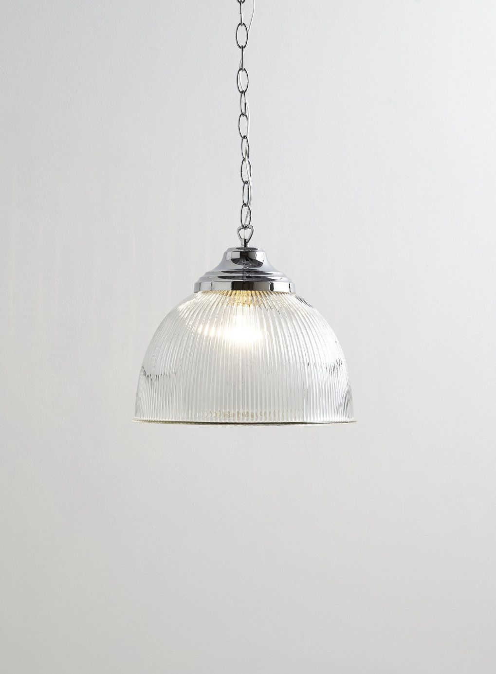 Photo 2 Of Holly Willoughby Clear Ribbed Pendant Light