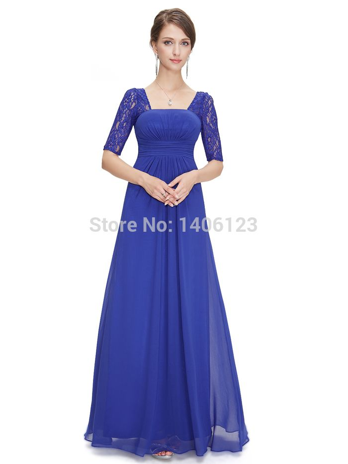 Lace-Long-Bridesmaid-Dresses-with-Sleeves-Lilac-Purple-Half-Sleeve ...