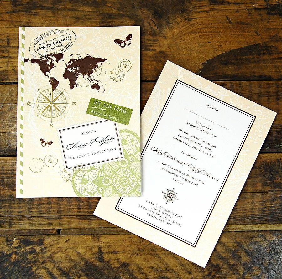 Love Travel Wedding Invitation | Pinterest | Travel themes, Weddings ...