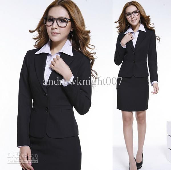 Professional womens Dress Suit Female Blazers with OL skirt Career ...