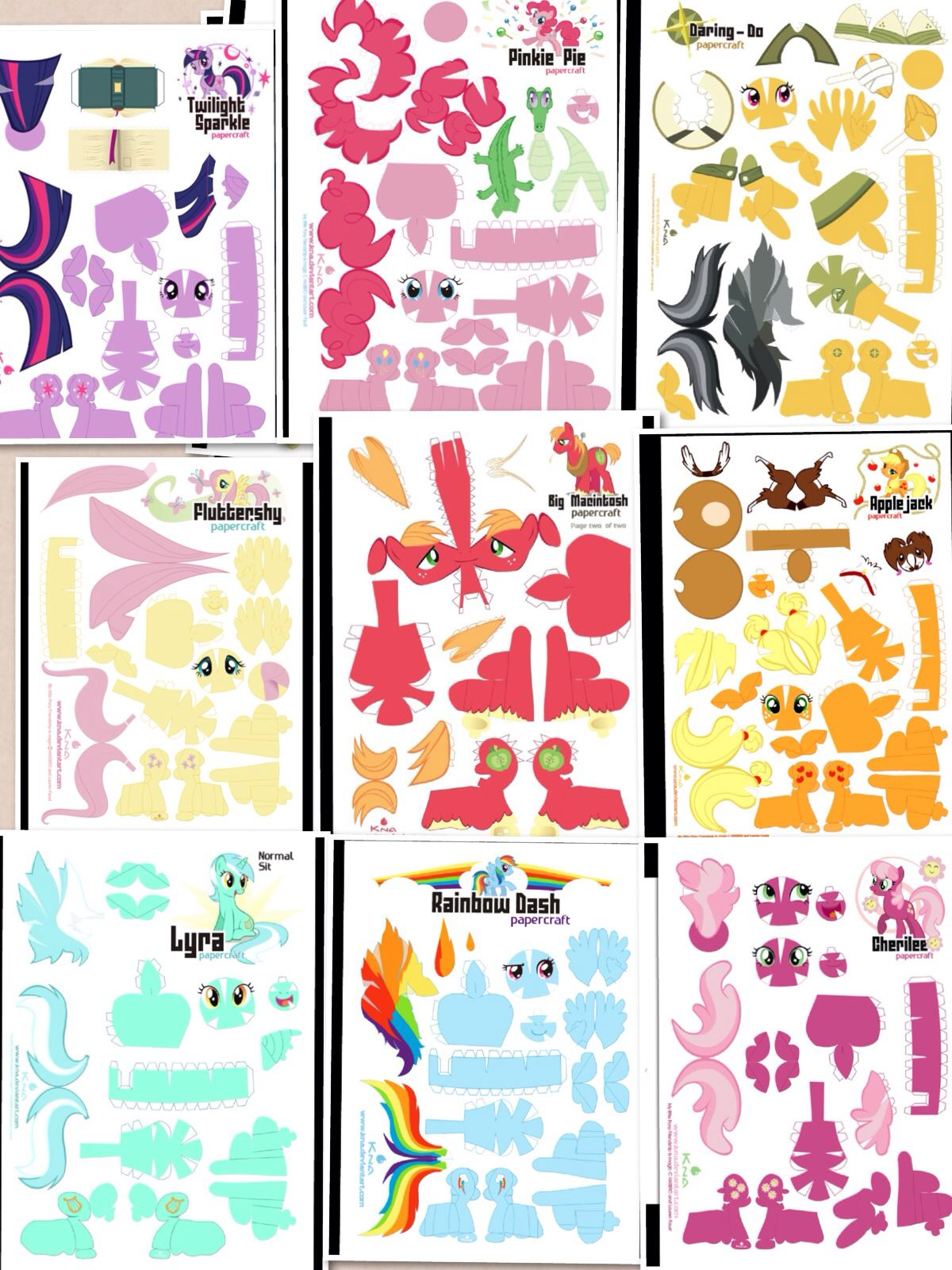 My Little Pony Papercraft Paper My Little Pony Craft My Little