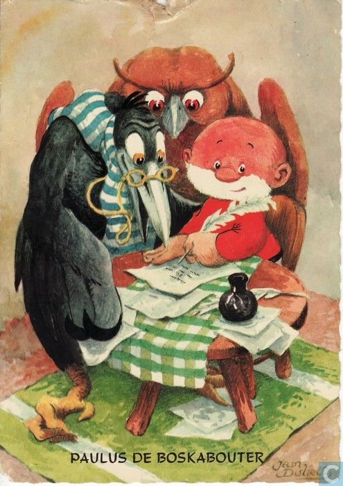ansichtkaarten - strips: paulus de boskabouter - paulus, oehoeboeroe