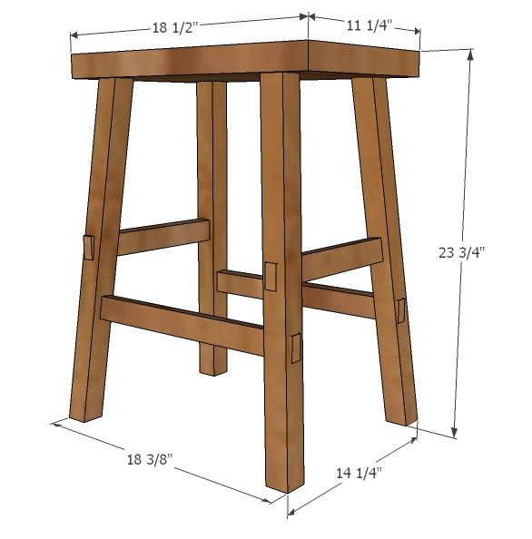 Diy Counter Stool Height Free And Easy Project Furniture Plans