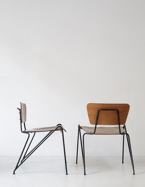 Italian Chairs 1950. Does Anyone Know Who Designed These?