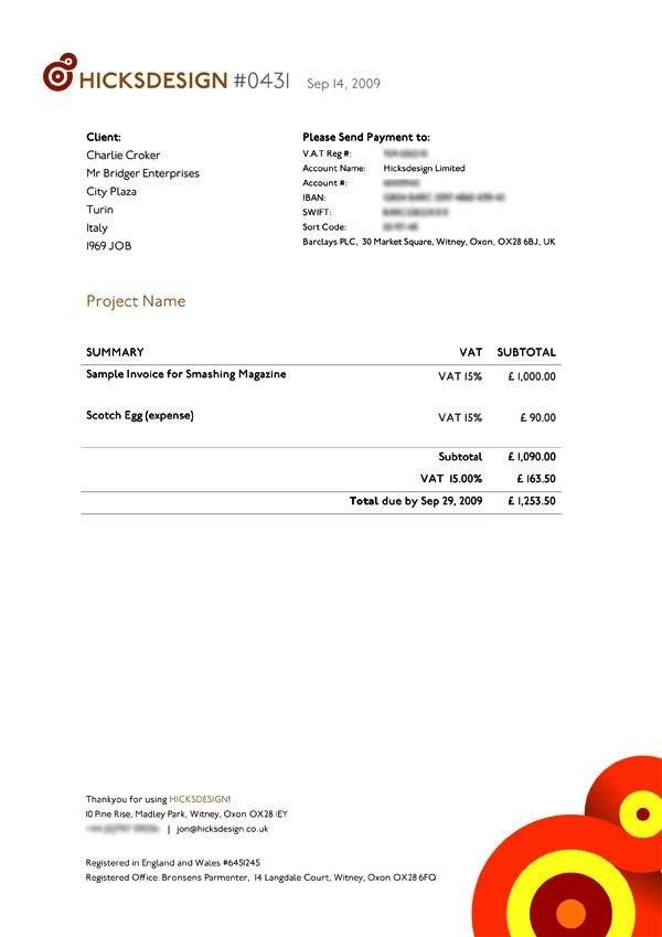 Contoh Desain Invoice Faktur Tagihan 06 23 Contoh Faktur Invoice