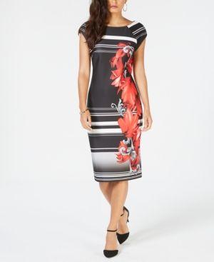 e3115ba1628 Thalia Sodi Printed Scuba Sheath Dress