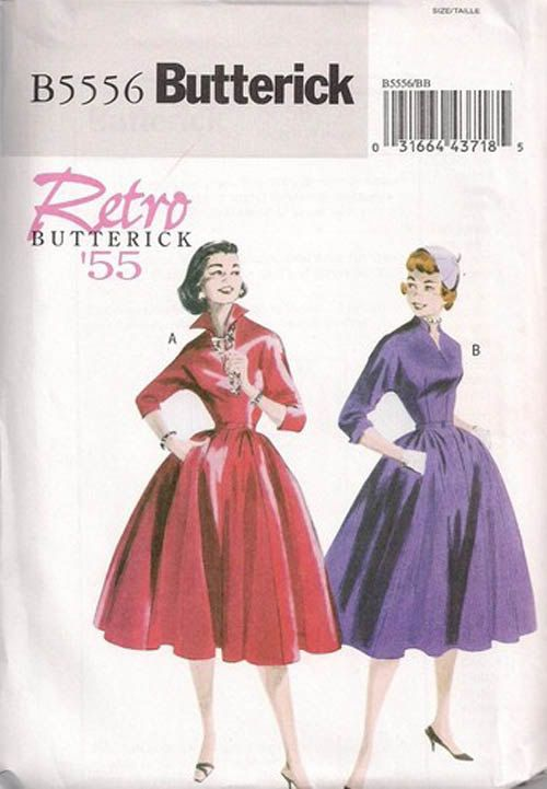 Butterick Ladies Sewing Pattern 4790 Vintage Style Wrap Dress Sizes 8-14