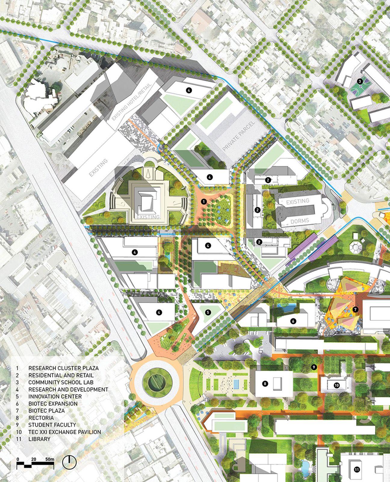 Sasaki Associates Regeneracion A Vision For The Campus And District Urban Design Plan Urban Design Concept Urban Design Graphics