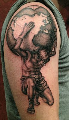 Weight Of The World On His Shoulders Tattoo Tattoo Ideas Tattoos