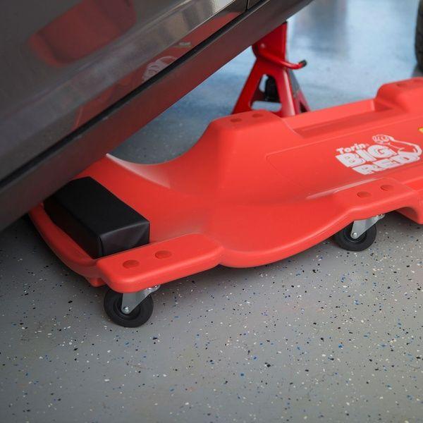 Torin Big Red 40 Inch Creeper Garage Plastic Rolling Car Repair Mechanic Cart Rolling Car Car Vinyl Cover