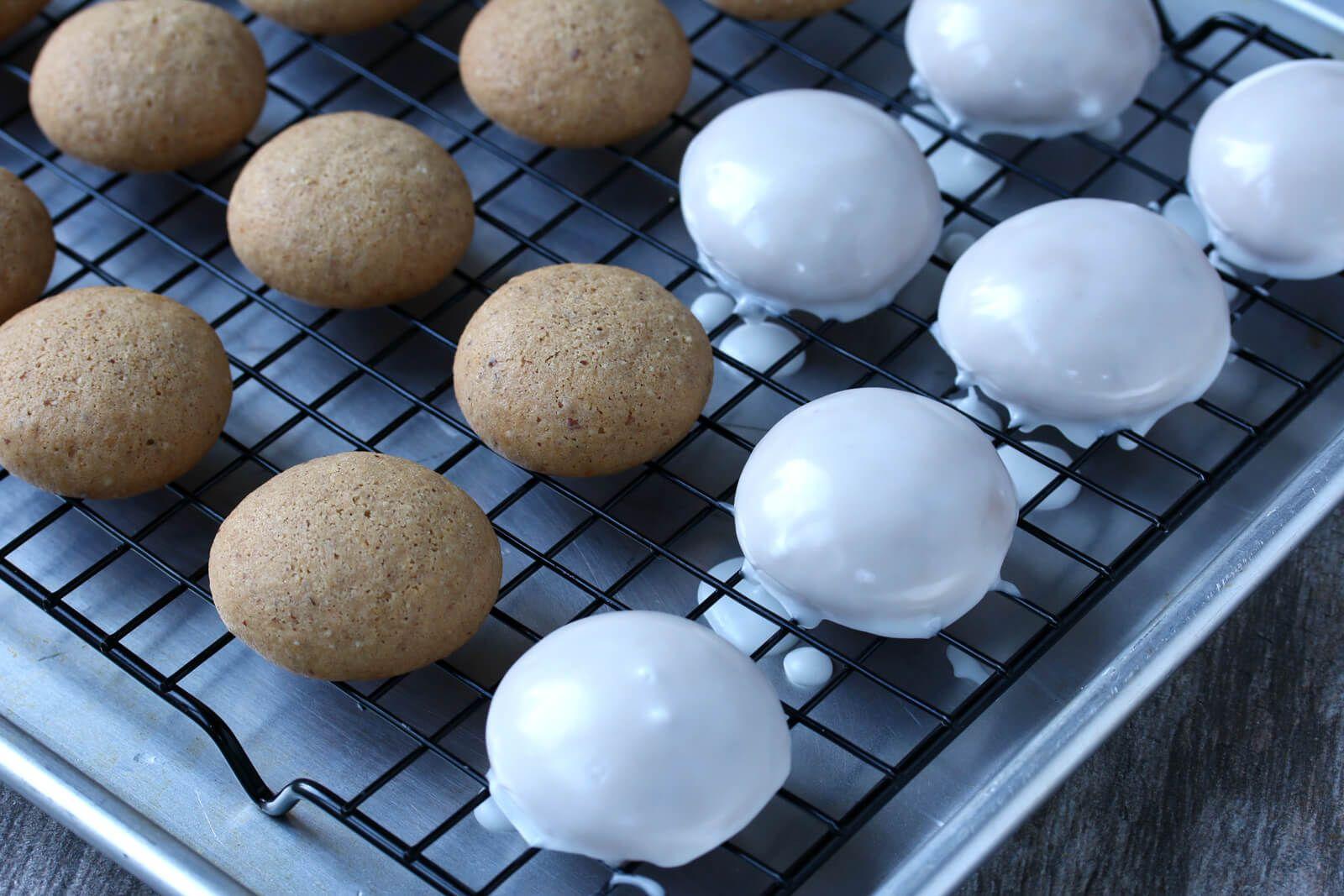 Pfeffernusse German Iced Gingerbread Cookies