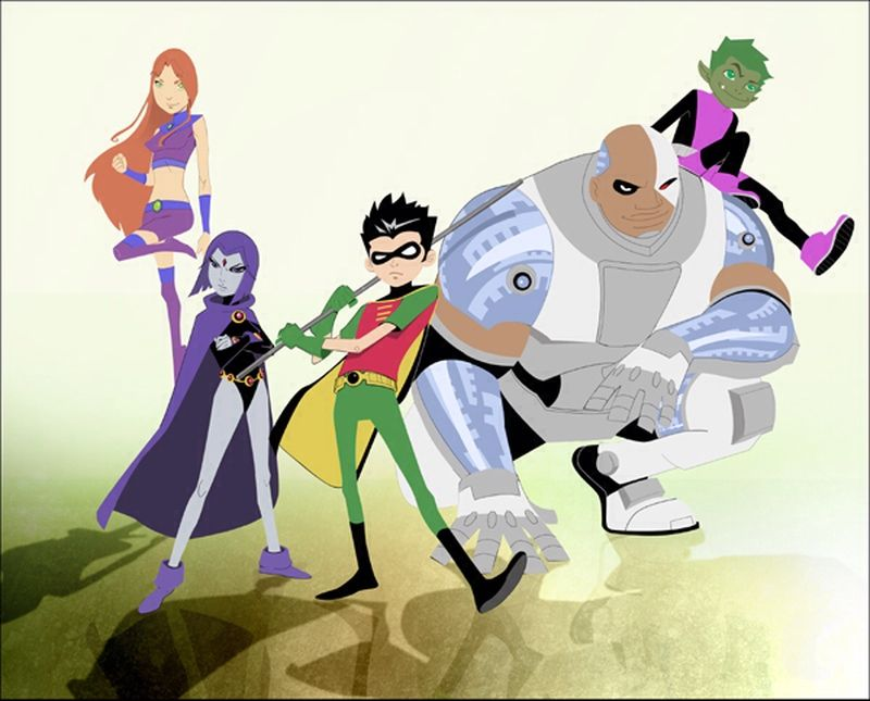 The Teen Titans, Also Known As The New Teen Titans And -1788