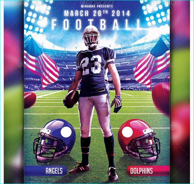 Football Flyer Template Party Flyer Templates For Clubs Business