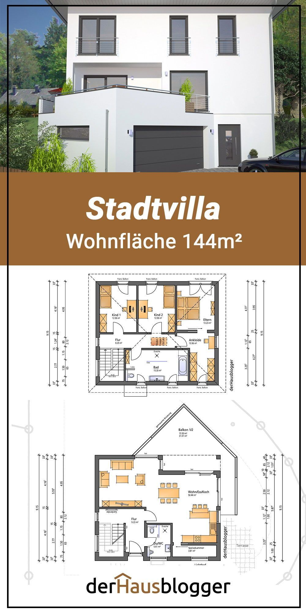 Floor Plan City Villa 144m2 When Planning This City Villa It Was Very Important To The Client In 2020 Floor Plans Modern Architecture Building Layout Architecture
