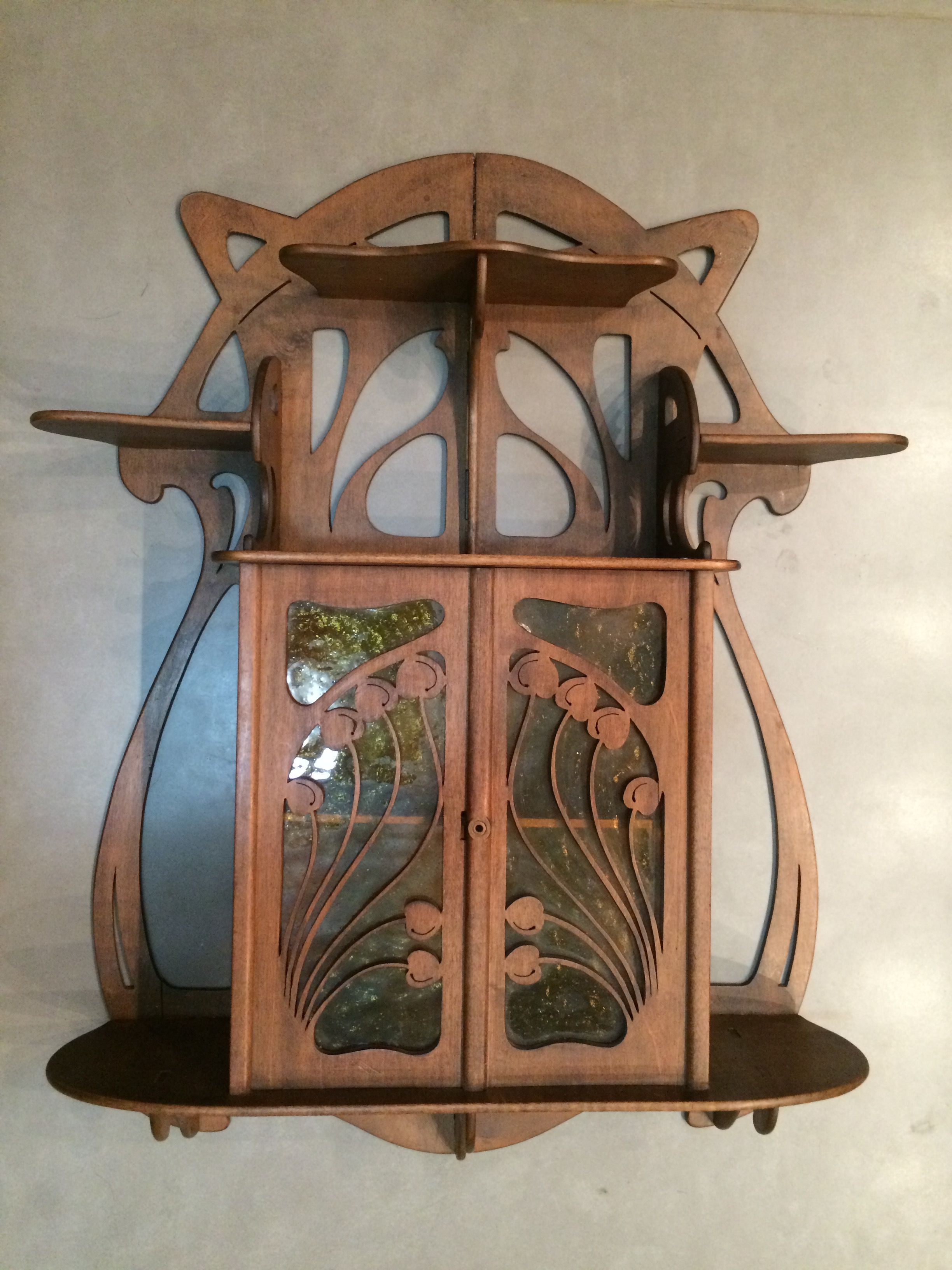 Art Deco Nouveau: Small Art Nouveau Wall Cabinet By Eugene Gaillard.