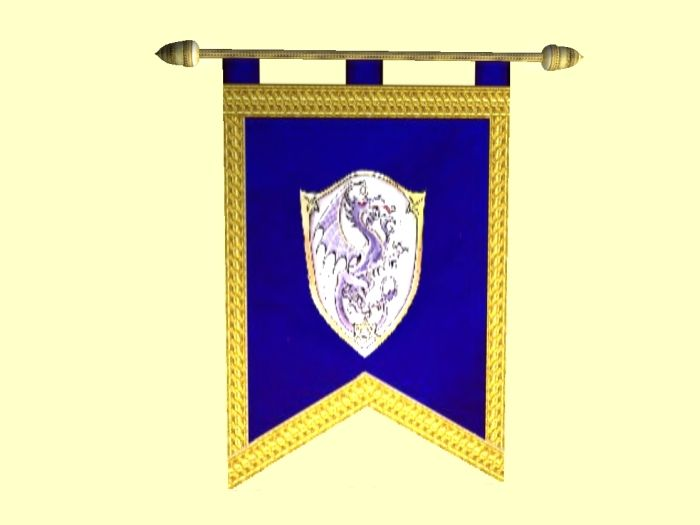 medieval banner flags includes