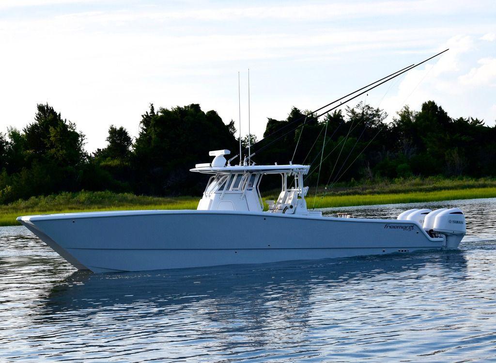 37 Freeman w/ quad F300s Ocean fishing boats, Center