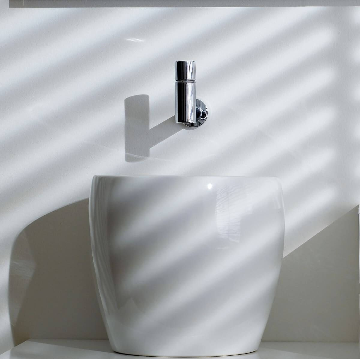 Wall mounted faucet from Oras Il Bagno Alessi One