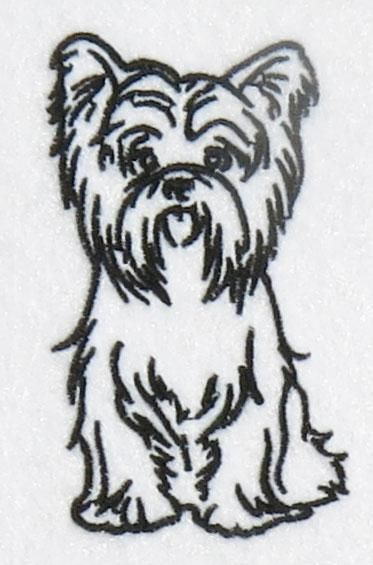 Yorkshire terrier dog yorkie embroidery design apex