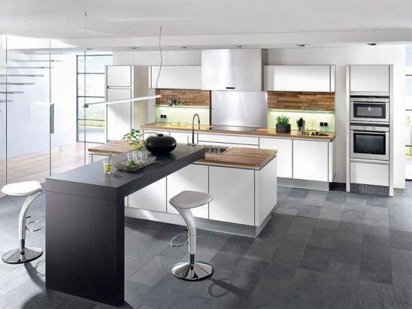 Idée relooking cuisine Cuisine avec îlot central  43 idées - Cuisine Design Avec Ilot Central
