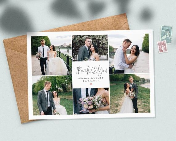 Classic Wedding Thank You Cards With Photo, Elegant Wedding Thank You Cards with Envelopes Inc, Doub # thank you Parenting Classic Wedding Thank You Cards With Photo, Elegant Wedding Thank You Cards with Envelopes Inc, Double Sided Wedding Thank You Card #085