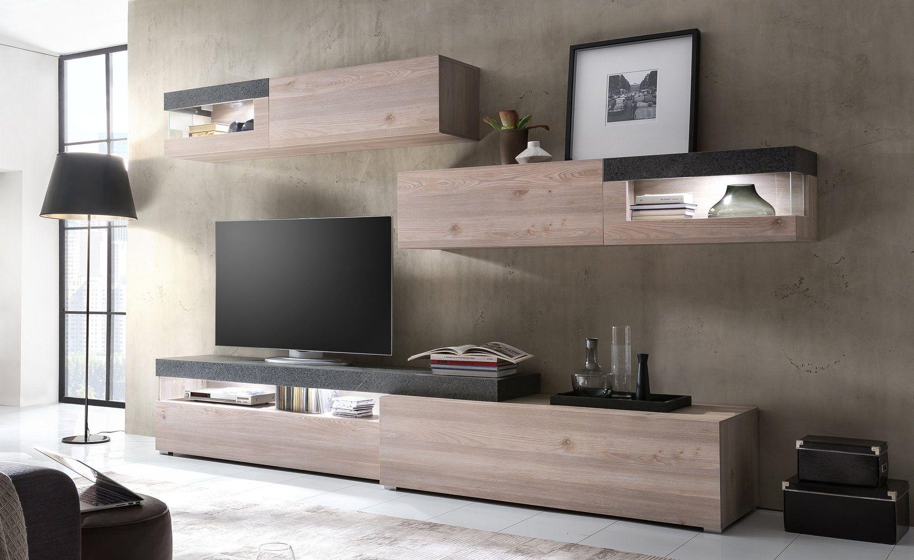 Caratteristiche stile moderno materiale struttura pannello melaminico colore struttura olmo - Conforama mobili ...