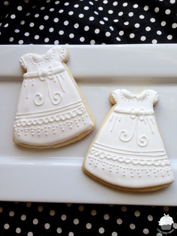 Christening Gown Cookies, Baptism