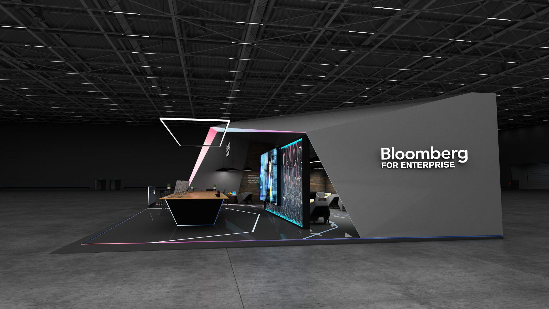 Exhibition Stand Design Concepts : Bloomberg exhibition booth design concept exhibition