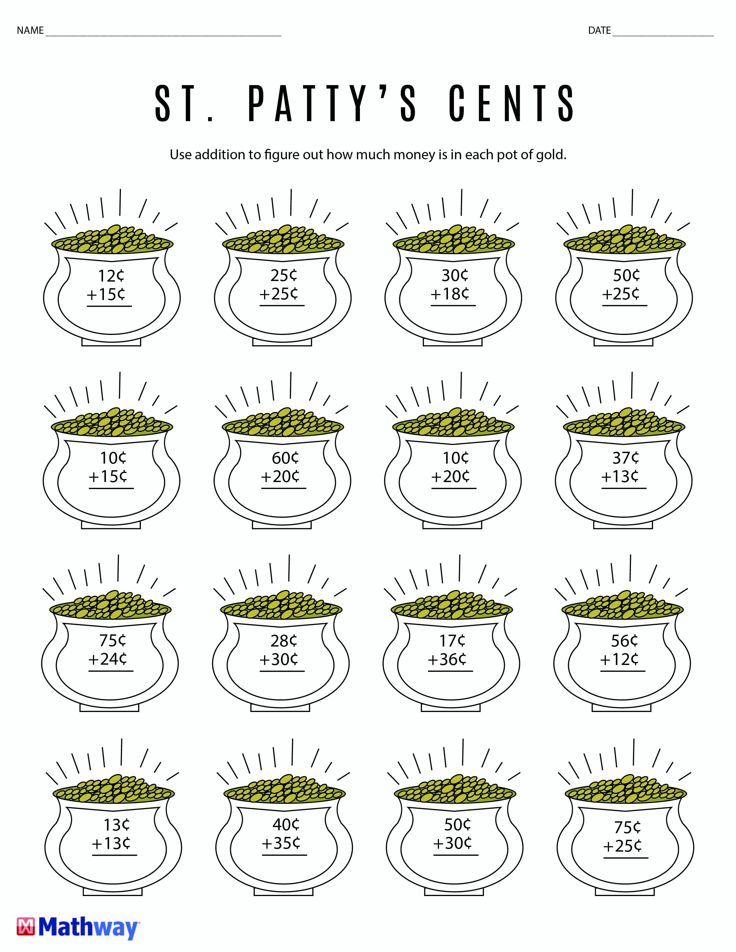St Patrick S Day Themed Worksheet Perfect For Young