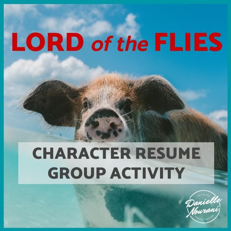 Lord Of The Flies Character Resume Group Activity Character