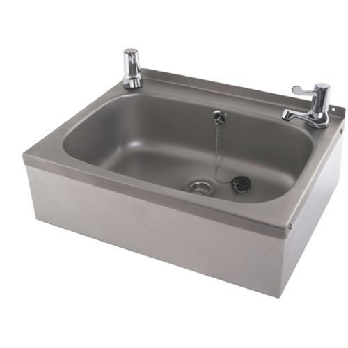 High Quality Stainless Steel Wash Hand Basin Complete With Lever Taps In Stock, Buy  Online.