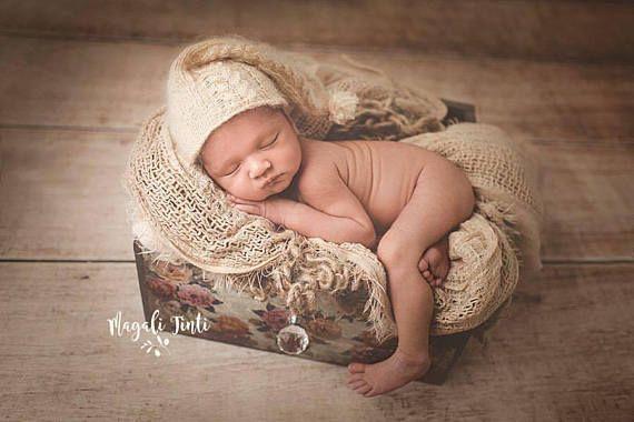 Nouveau Bébé Garçon Fille Accessoires Bouton Tricot Bib photographie Accessoire