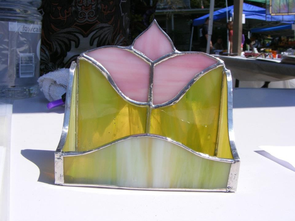 Spectrum - Stained Glass - Business Card Holder   Glass   Pinterest ...
