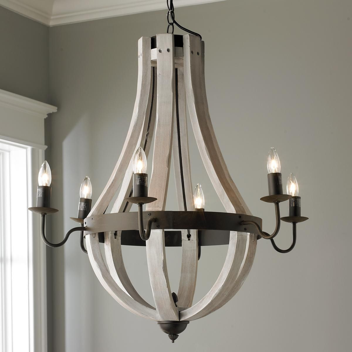 wine shades chandelier wooden stave of pin light barrel