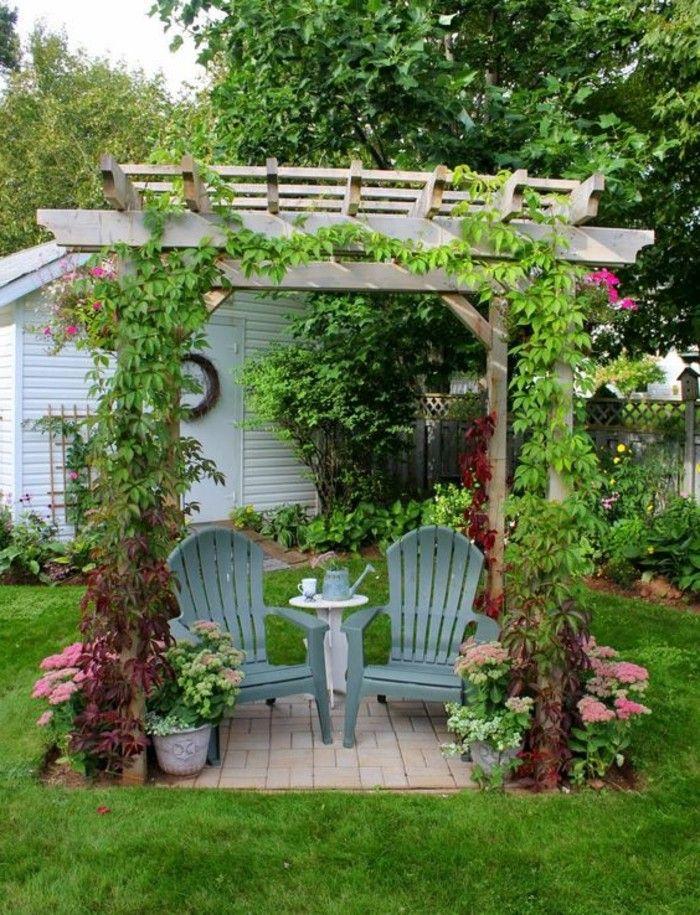 Garden Ideas Pergola Creepers Dekoideen Garden Chairs