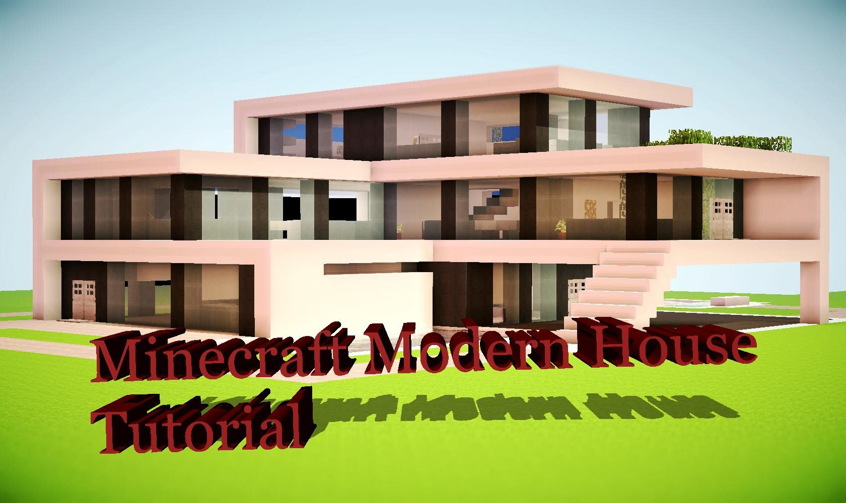 Minecraft modern quartz house tutorial