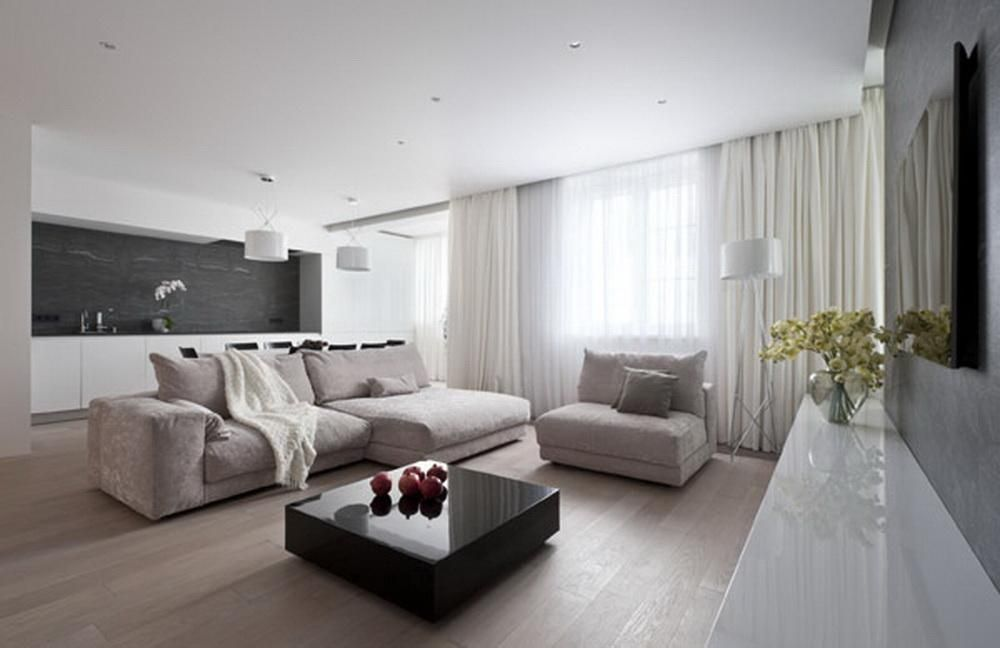 Biale Zaslony Z Biala Firanka W Salonie Modern Apartment Modern Apartment Decor Apartment Design