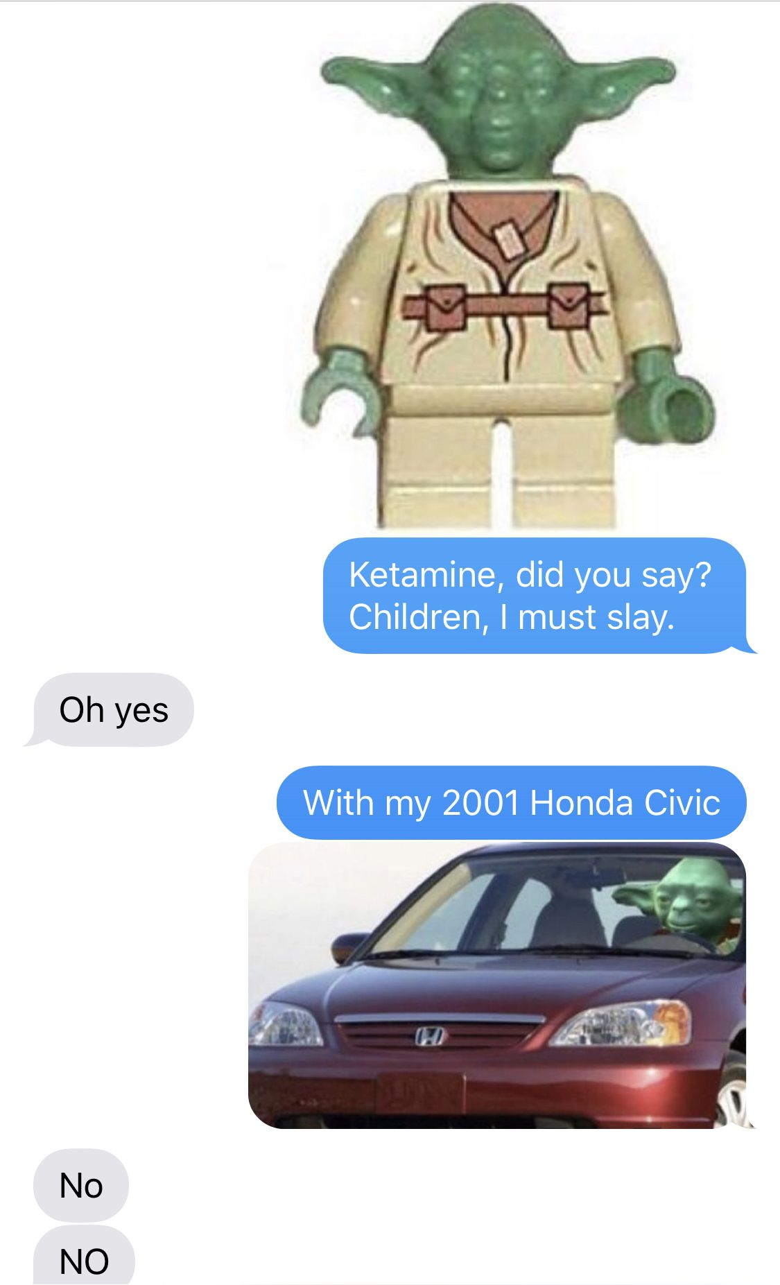 Yoda 2001 Honda Civic : honda, civic, Birds, Aren't, Memes, Curse, Binding, Never, Leave, Memes,, Grain, Sand,, Honda, Civic