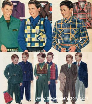 1950 Teenage Clothing 1950s Childrens Fashion Part Of Our Fifties Fashions Section Childrens Fashion Boy Fashion Vintage Childrens Clothing