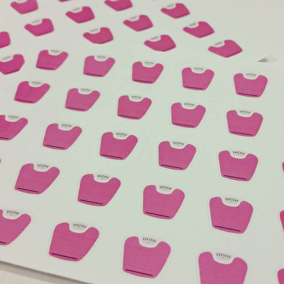 Small weigh in scale stickers for planners calendars or diaries made to order on