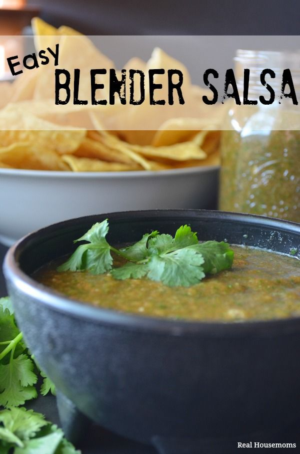 Easy Blender Salsa | Real Housemoms | #salsa #mexicanfood This would be perfect for Cinco de Mayo