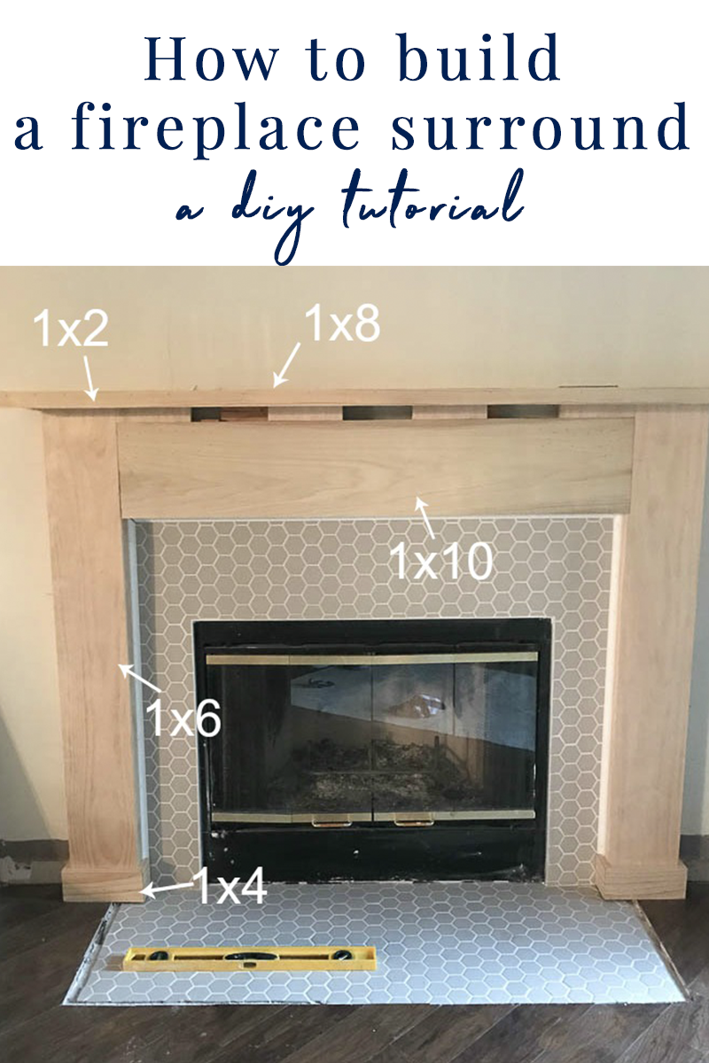 Fireplace Makeover How To Build A Mantel And Surround