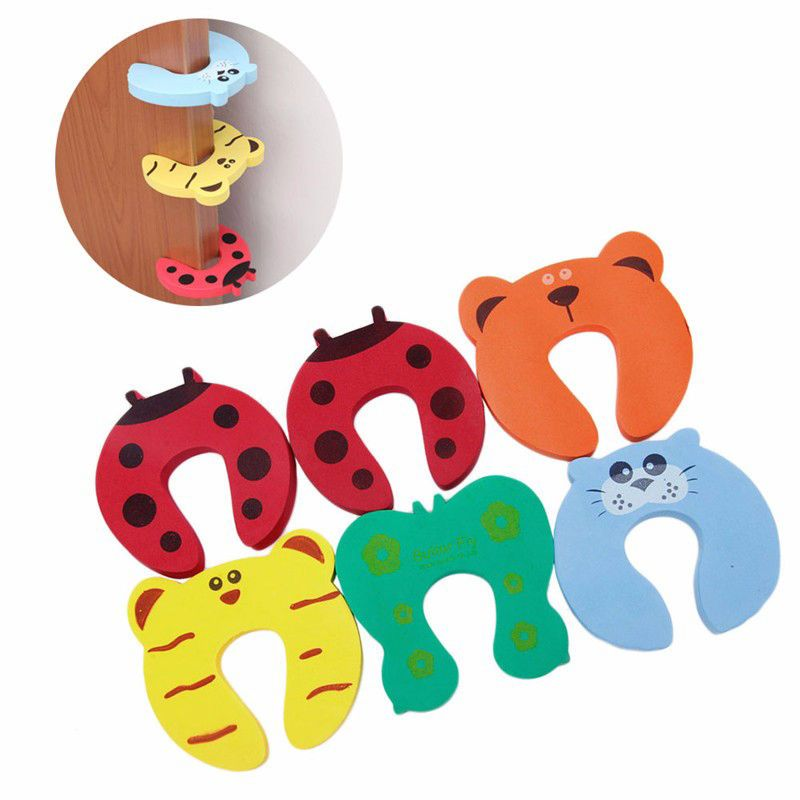 5Pcs Baby Safety Foam Door Jammer Guard Finger Protector Stoppers Animal best