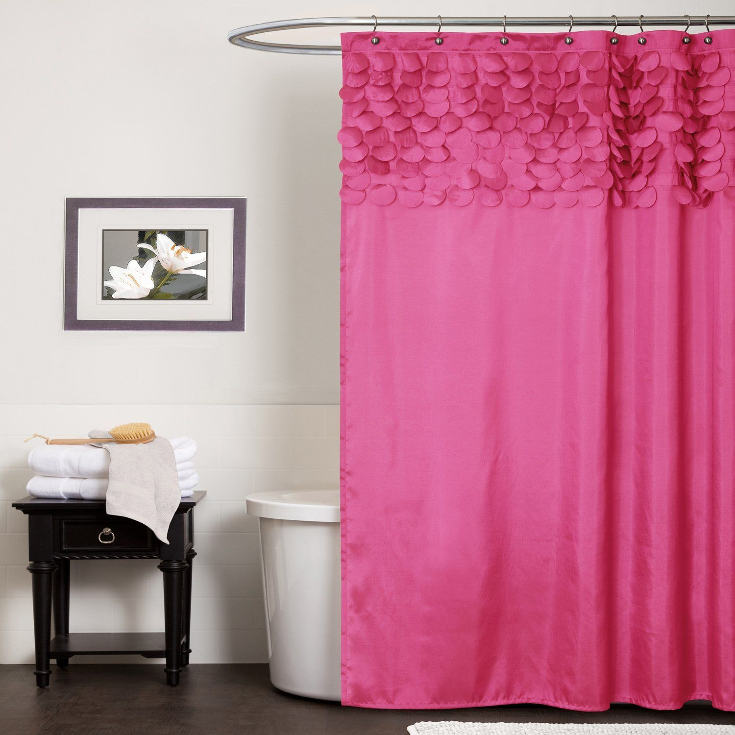 Hot pink shower curtain - Hot Pink Shower Curtain 1000 Images About Curtains From On Pinterest Pink Orange Fuschia Ombre