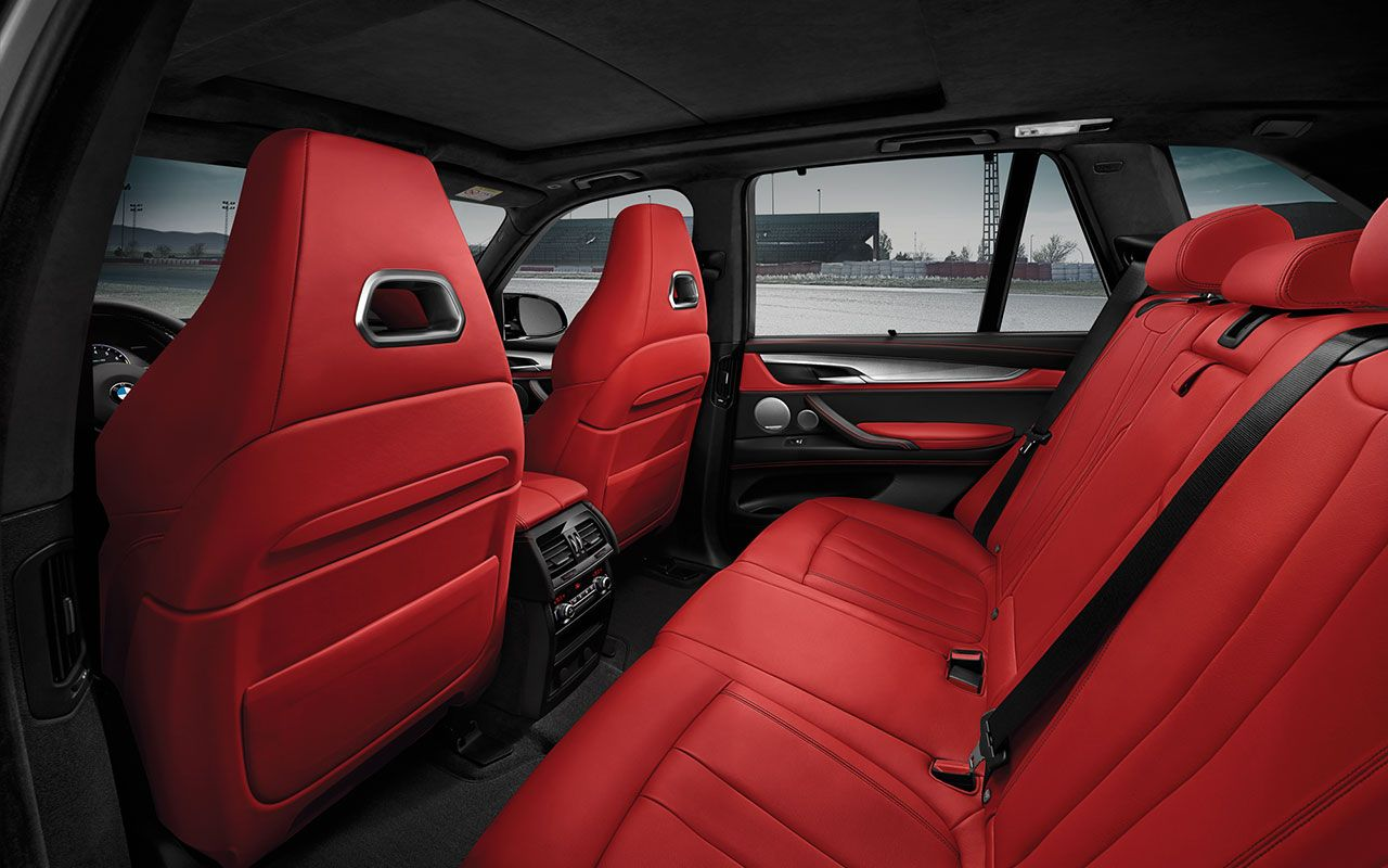 The Bmw X5 M With Full Fine Grain Mugello Red Merino Leather