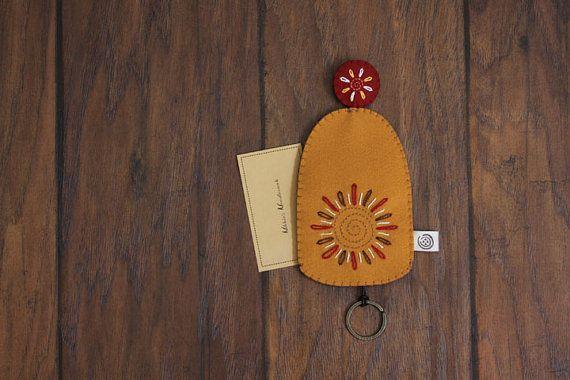 Nikkie's Felt Wild Flower Key CoverMusturd & by NikkiesNeedlework, $12.00