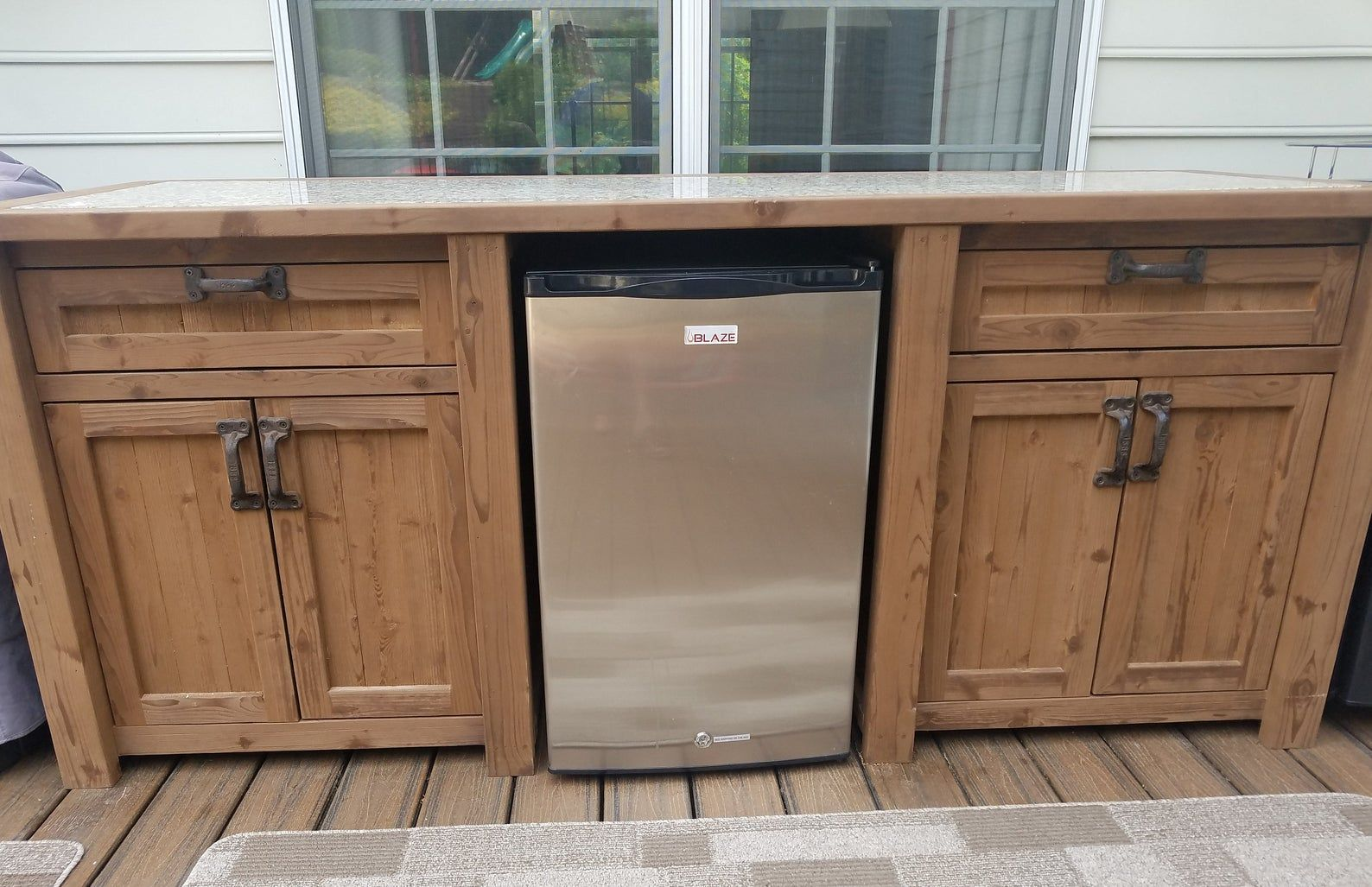 free shipping outdoor beverage bar with cooler and mini