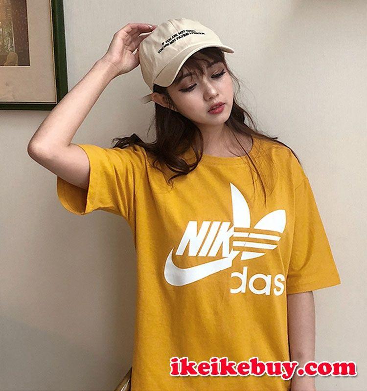 ストリート系 アディダス ナイキ コラボ Tシャツ 芸能人愛着 Adidas
